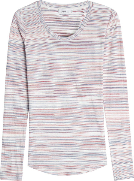 Closed Striped Cotton Top
