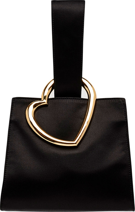 Edie Parker Heart Satin Wristlet Clutch Bag