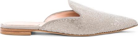Alberta Ferretti Crystal Embellished Mules