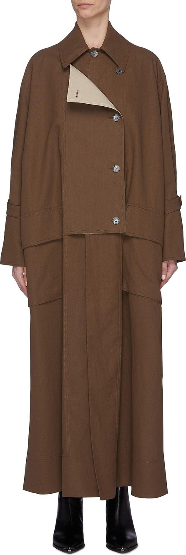 Acne Studios Drape lapel trench coat
