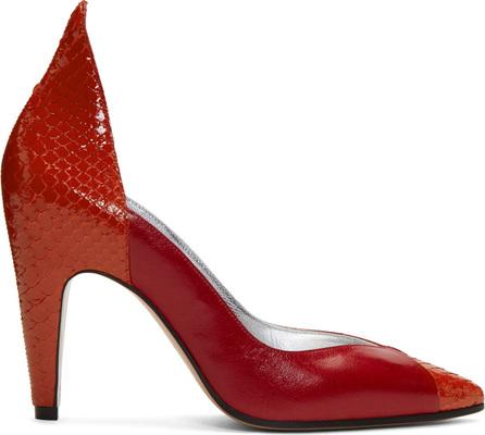 Givenchy Red Kangaroo & Python Heels