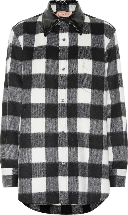 N°21 Checked wool-blend shirt