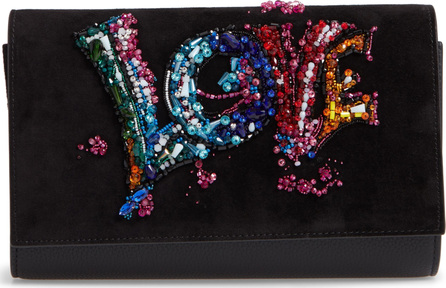 Christian Louboutin Paloma Love Suede Clutch Bag
