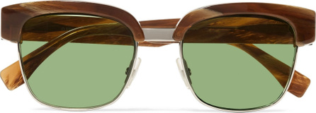 Fendi Square-frame acetate and metal sunglasses