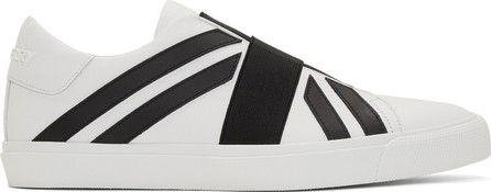 Burberry London England White & Black Cedbury Sneakers