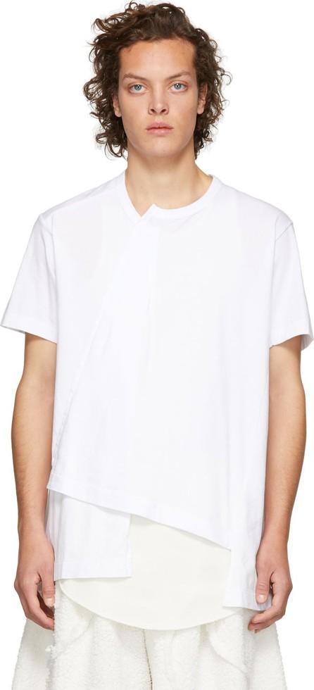 Comme Des Garçons Homme Plus White Asymmetrical T-Shirt