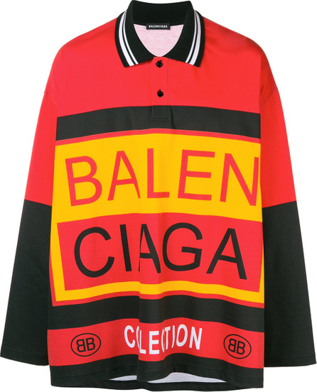 Balenciaga Oversized logo polo shirt
