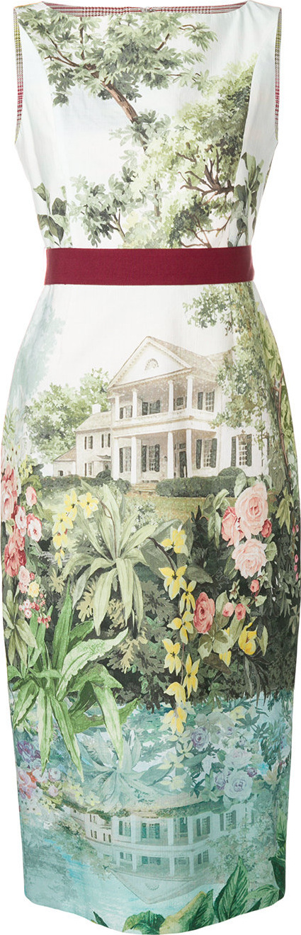 Antonio Marras Landscape print dress