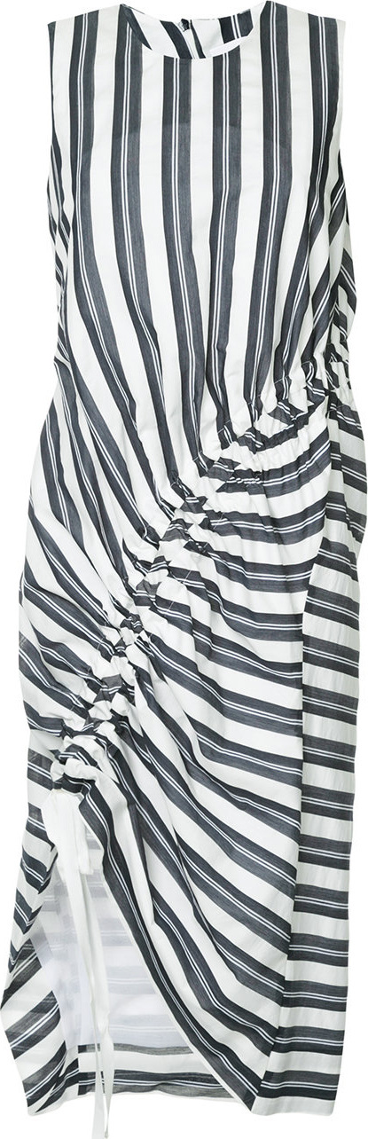 Christopher Esber Stripe gathered midi dress