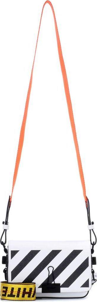 Off White Exclusive to mytheresa.com - Binder Clip leather shoulder bag
