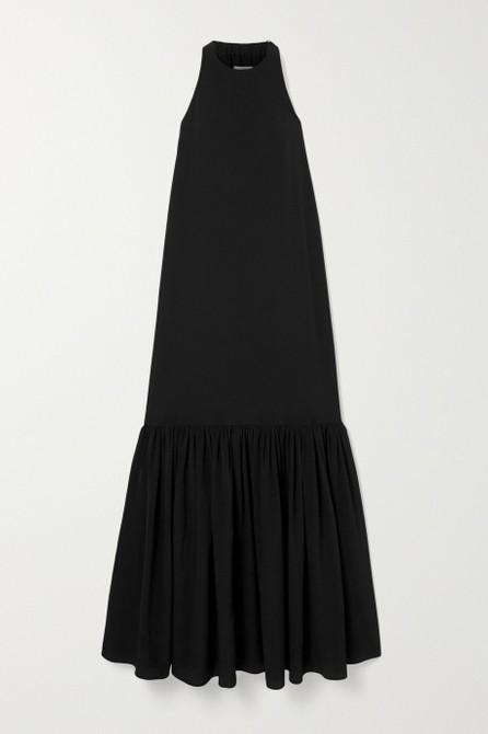 Tibi Tiered silk crepe de chine maxi dress