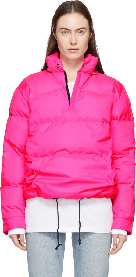 Bianca Chandon Pink Crescent Down Works Edition Down Western Pullover Jacket