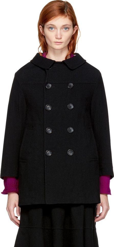 Tricot Comme des Garçons Black Double-Breasted Coat