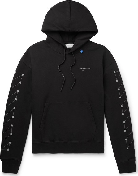 Off White Logo-Print Loopback Cotton-Jersey Hoodie