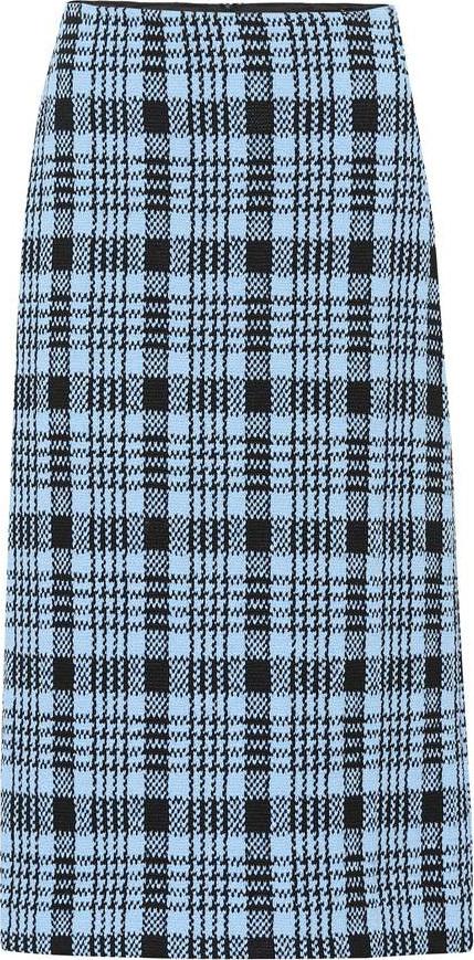 Dries Van Noten Wool-blend checked skirt