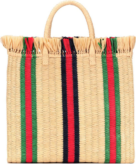 Gucci Large Top Handle straw tote