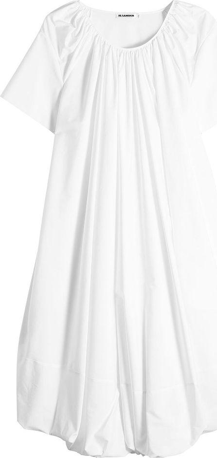 Jil Sander Eucalyptus Cotton Dress with Silk
