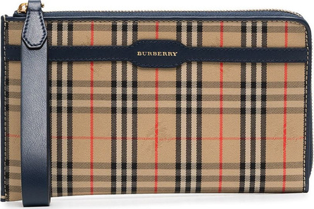 Burberry London England Checked and logo printed pouch bag