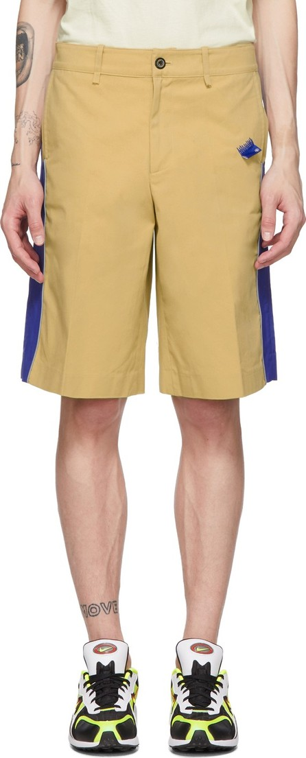 ADER error Beige & Blue Panel Shorts