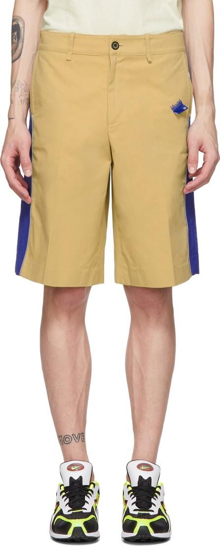 ADER error Beige & Blue Panel Shorts