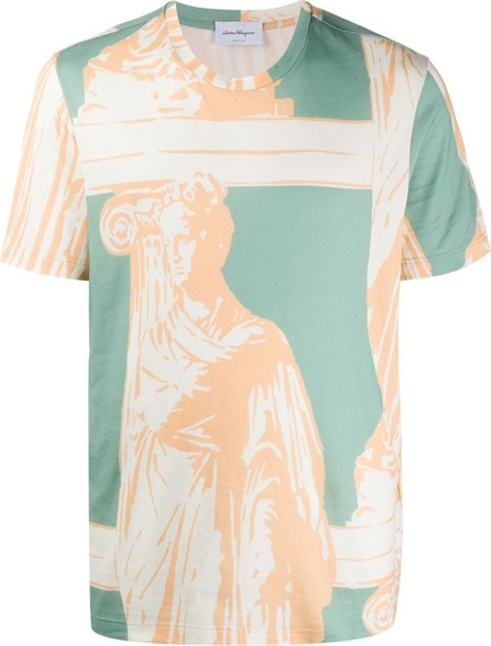 Salvatore Ferragamo Fountain of Neptune print T-shirt
