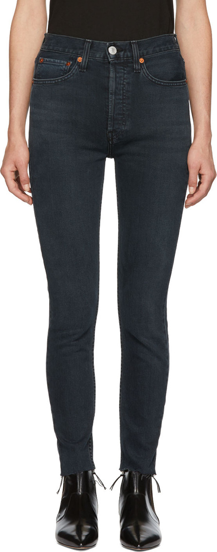 RE/DONE Black Originals High-Rise Ankle Crop Jeans