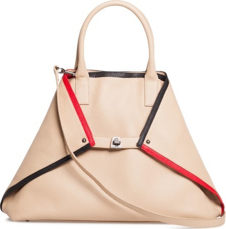Akris AI Medium Top Handle Leather Tote