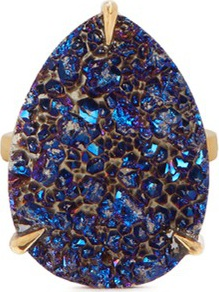 Niin 'Zayah Nocturna' drusy agate ring