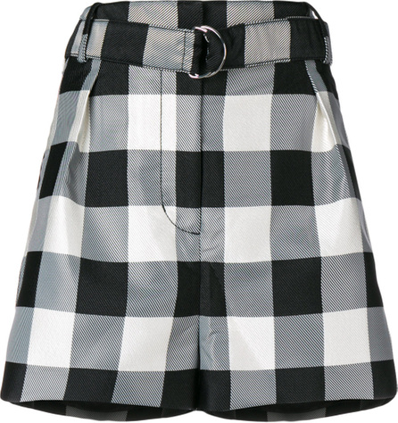 3.1 Phillip Lim Belted check shorts