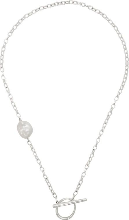 Faris Silver Anka Lariat Pearl Necklace