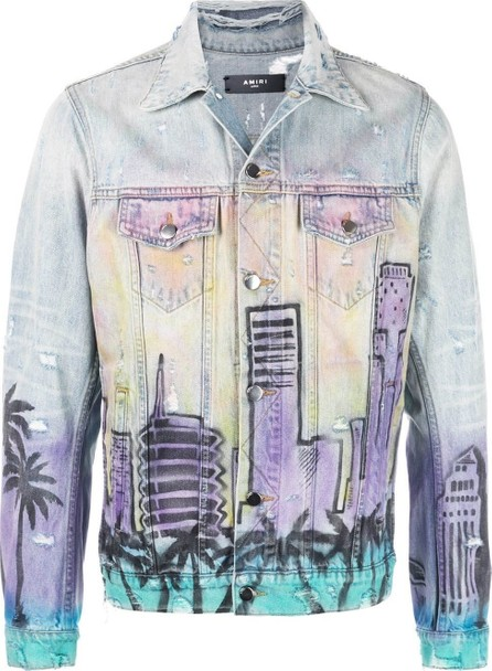 Amiri Airbrushed hollywood denim jacket