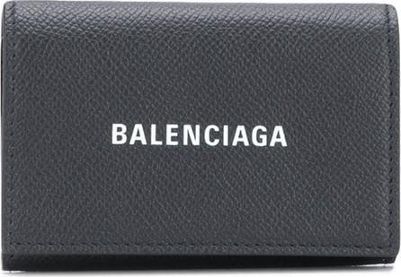 Balenciaga Logo-print card case