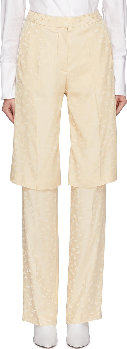 Stella McCartney 'Laurel' layered panel floral jacquard pants