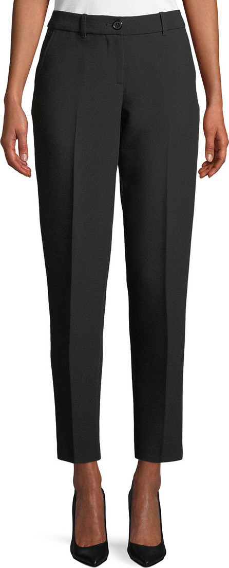 Emporio Armani Zip-Front Classic Stretch Cigarette Pants