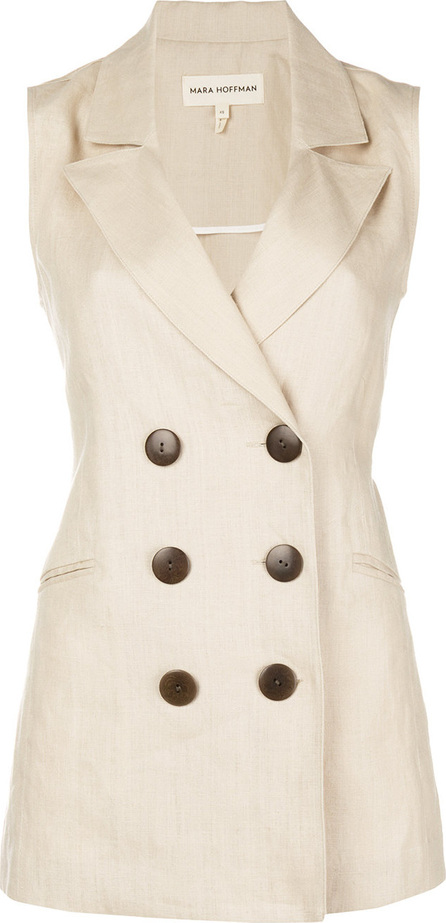 Mara Hoffman Francie double breasted vest