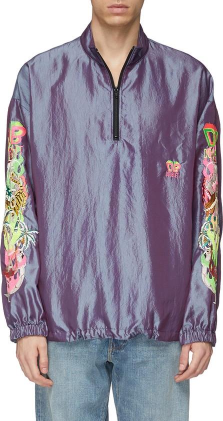 Doublet 'Chaos' embroidered sleeve half-zip sweatshirt