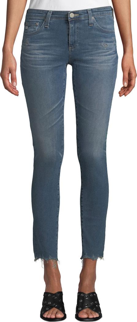 AG Jeans The Legging Super Skinny Ankle Jeans w/ Chewed Hem