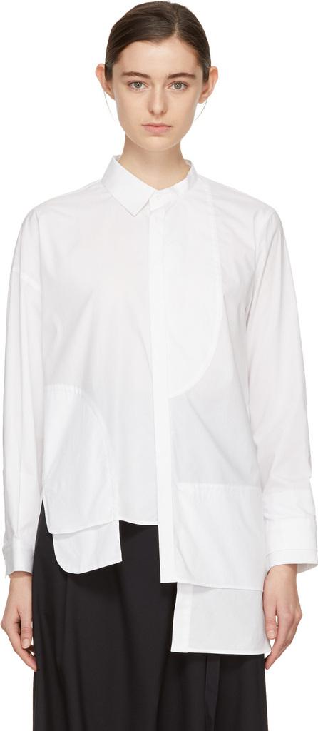 Enfold White Asymmetric Shirt