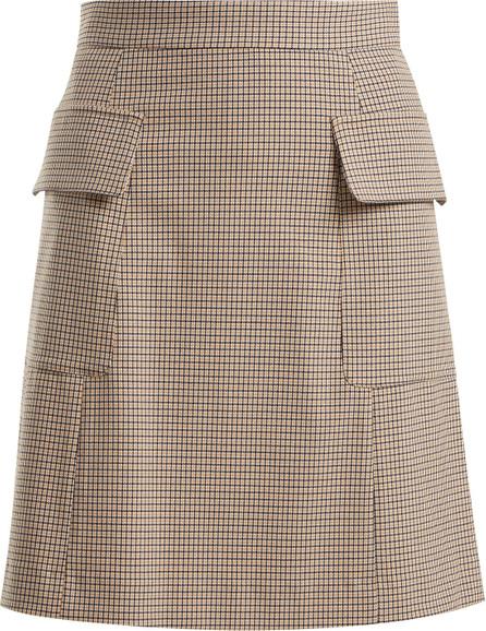 See By Chloé Checked flap pocket mini skirt
