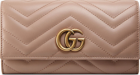 Gucci GG Marmont Quilted Continental Flap Wallet