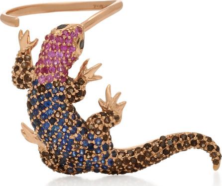 Donna Hourani Lizard 18K Rose Gold Multistone Ring