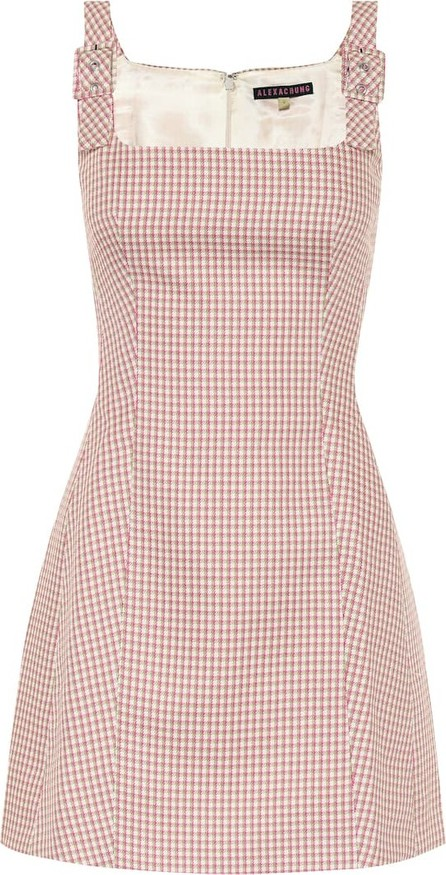 Alexachung Checked twill dress