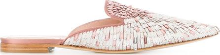Alberta Ferretti Sequin embellished mules