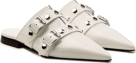 Victoria Beckham Embellished Leather Mules