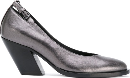 A.F.Vandevorst diagonal heel buckled pumps