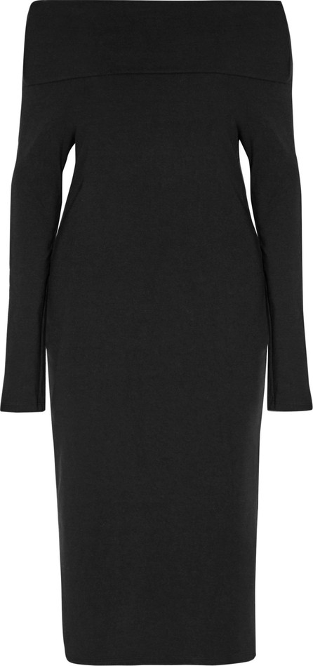 Splendid Off-the-shoulder layered stretch-ponte dress