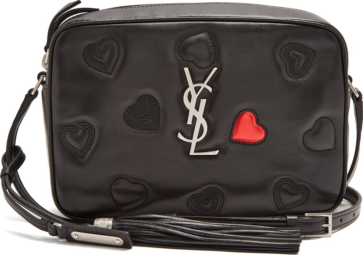 dd6caa229c06 Saint Laurent Monogram Lou quilted-hearts leather cross-body bag in ...