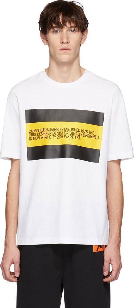 Calvin Klein Jeans White 'Est. 1978' Patch T-Shirt