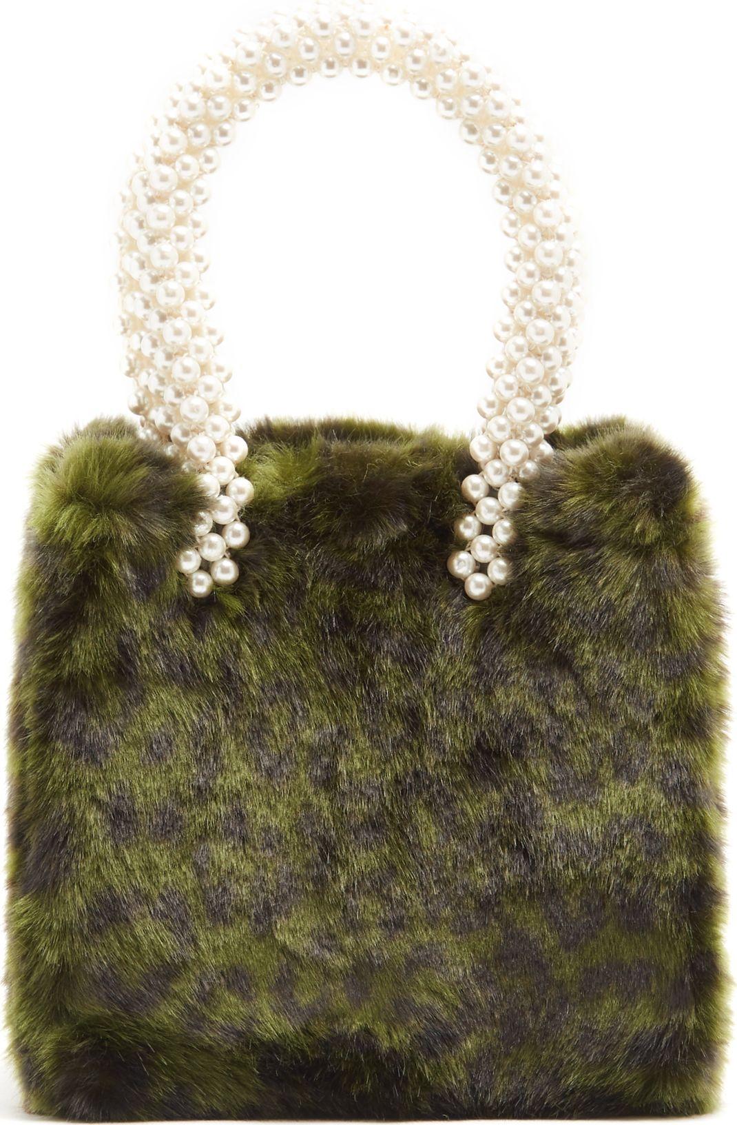 77a89598e6 Shrimps Una leopard-print faux-fur bag - Mkt