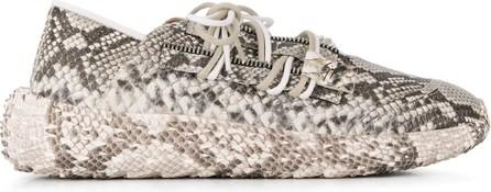 Giuseppe Zanotti Lace-up snakeskin effect sneakers